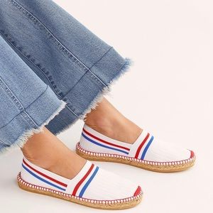 NWB Free People On A Boat Ribbed Espadrille Flat